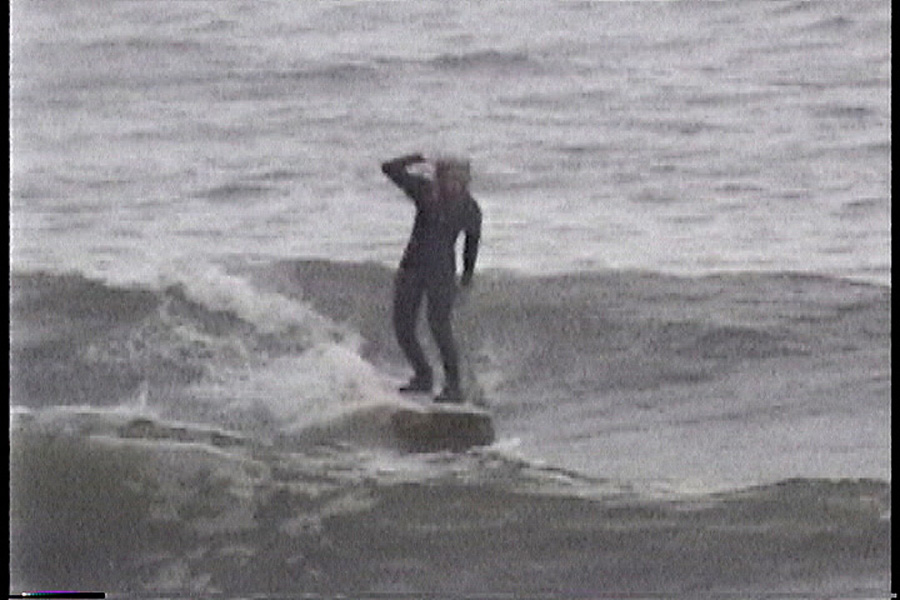Surfing at the Surfside Texas Jetty April 1999