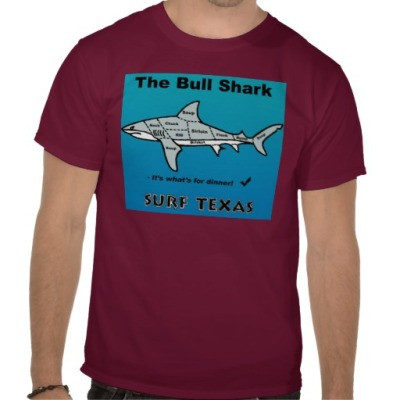 AintnosurfinTexas_bull_shark_tshirt