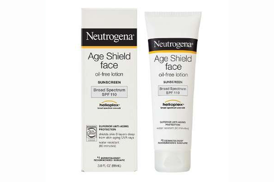 neutrogena age shield broad spectrum sunscreen spf 110