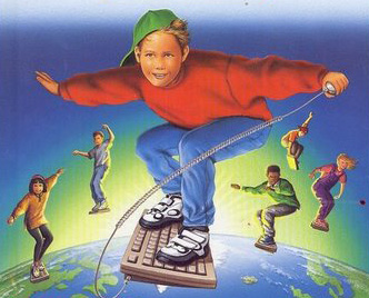 Kids Surfing The Web
